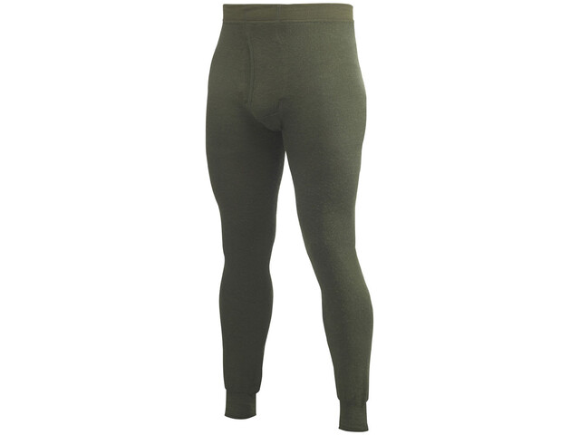 Woolpower 400 Long Johns with Fly Herre pine green